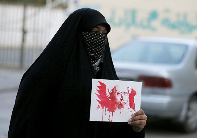 La protesta en Bahrein contra la ejecución del religioso chií Nimr Baqer al Nimr en Arabia Saudí