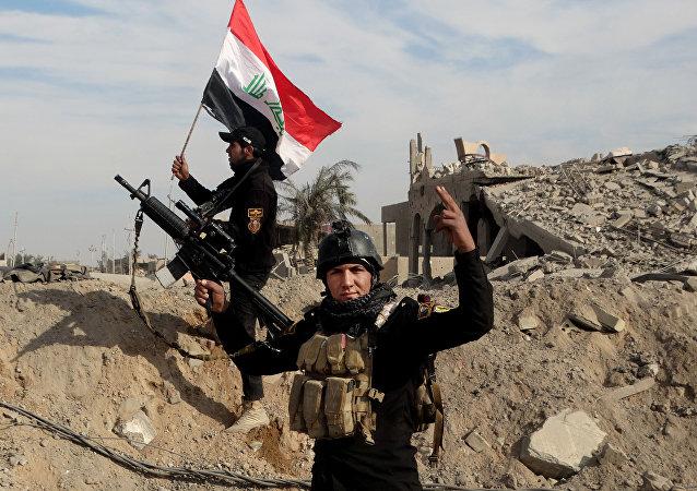 Fuerzas de seguridad iraquíes en Ramadi