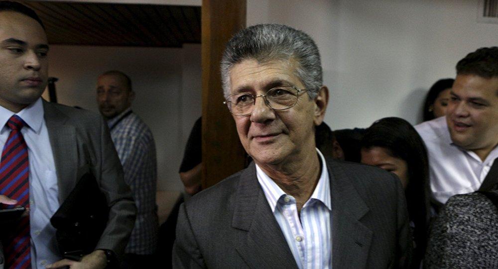 Henry Ramos Allup, jefe del partido opositor  AD