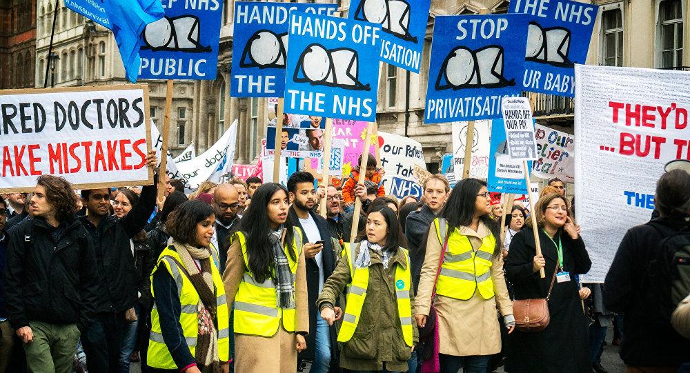 Protesta de la Asociación de Médicos Británicos (archivo)
