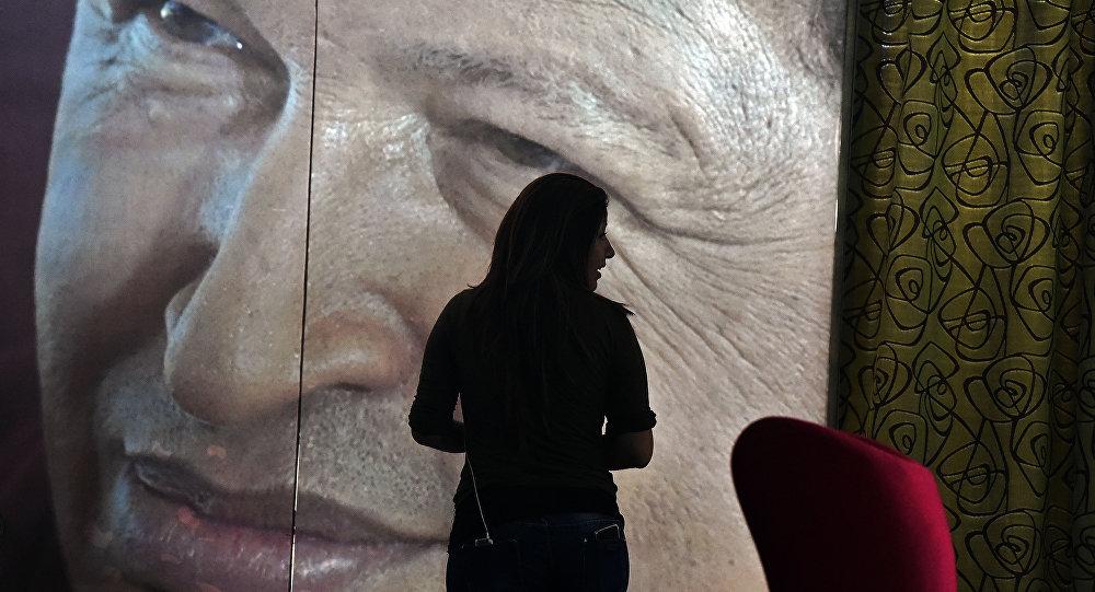 Retrato de expresidente de Venezuela, Hugo Chávez