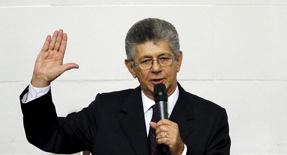 Henry Ramos, presidente electo de la Asamblea Nacional de Venezuela