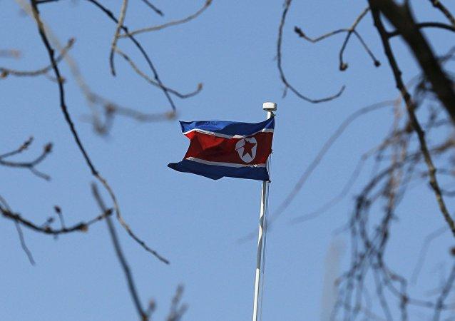 La bandera de Corea del Norte