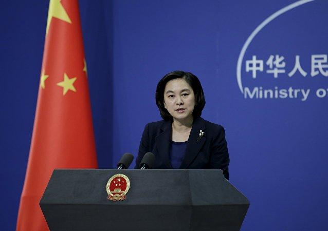 Hua Chunying, la portavoz del Ministerio de Exteriores de China