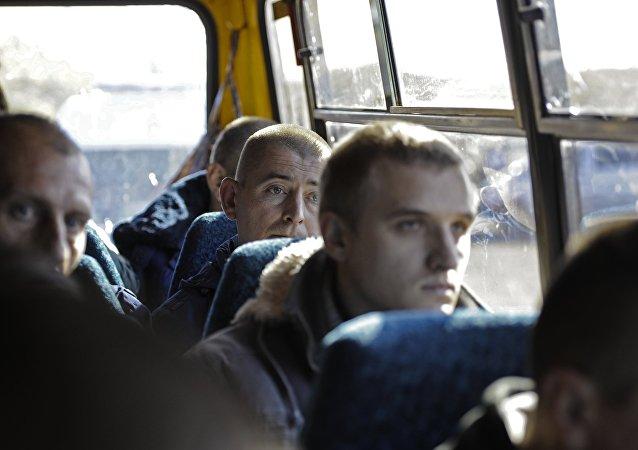 Militares detenidos del Ejército ucraniano