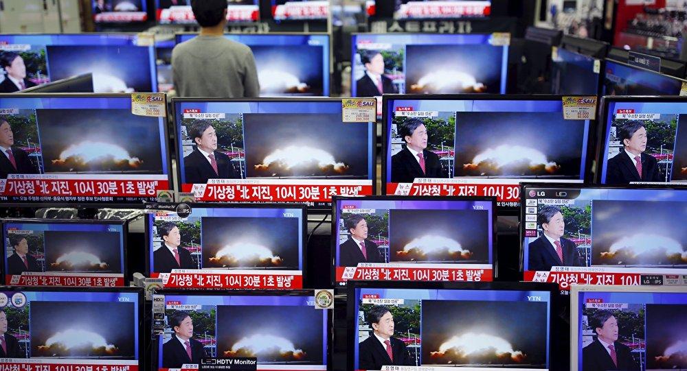 Prueba nuclear de Corea del Norte, transmitida por la televisión central (archivo)