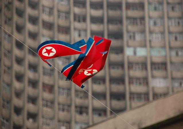 Banderas de Corea del Norte (archivo)