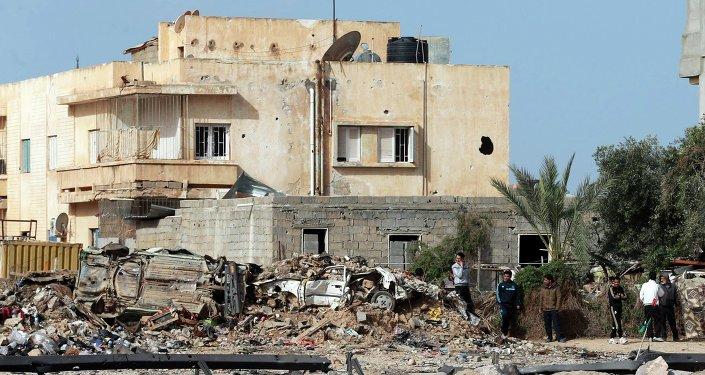 Explosión in Libia