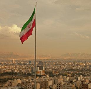 La vista de Teherán, Irán