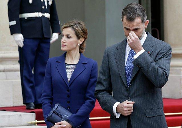 El rey de España, Felipe VI, y su esposa, reina Letizia