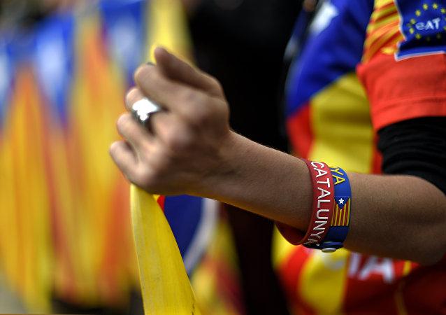 Partidarios del proceso soberanista de Cataluña