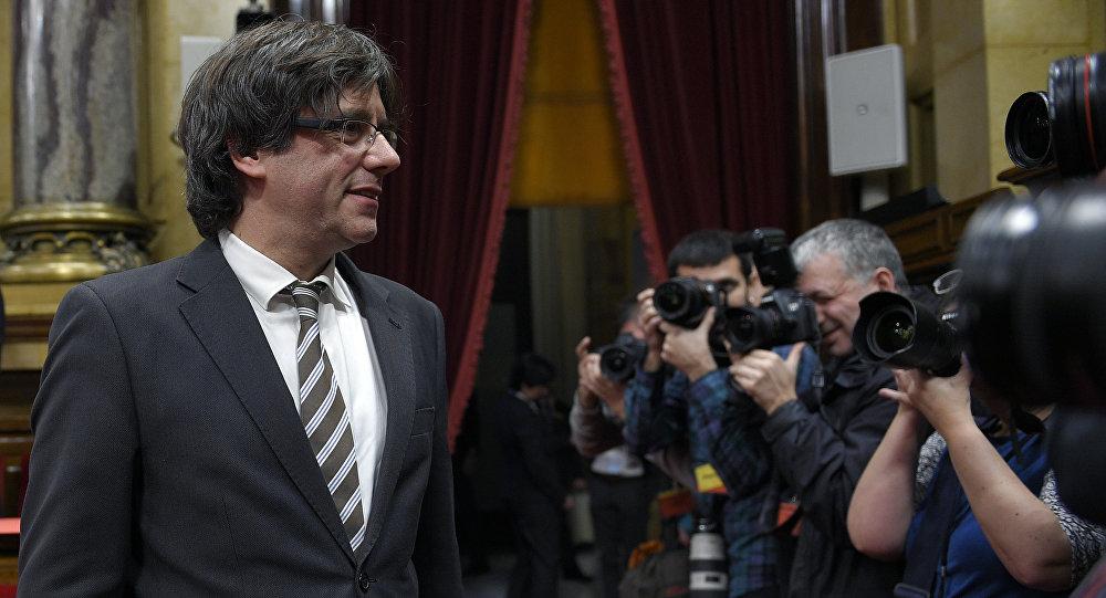 Carles Puigdemont, presidente de Cataluña (archivo)