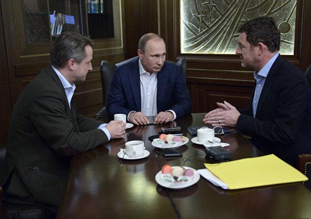 Presidente de Rusia, Vladímir Putin, durante una entrevista con el diario alemán Bild