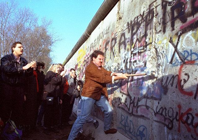 La caída del muro de Berlín en 1989