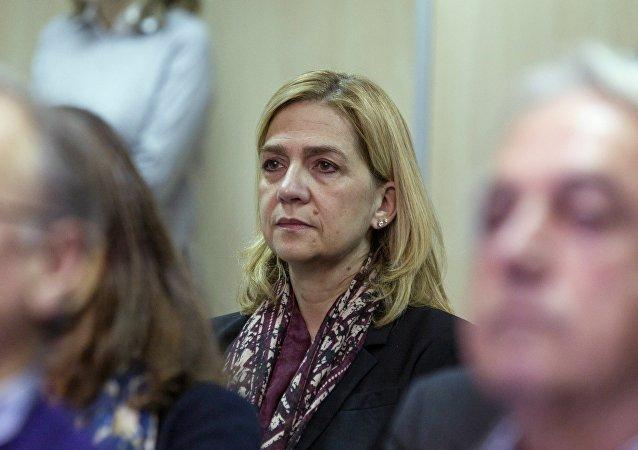 La infanta Cristina de Borbón, sentada en el banquillo de los acusados del caso Nóos