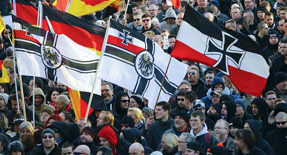 Manifestación de derechistas en Alemania