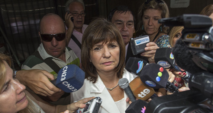 Argentine deputy Patricia Bullrich, president of the Penal Legislation Committee