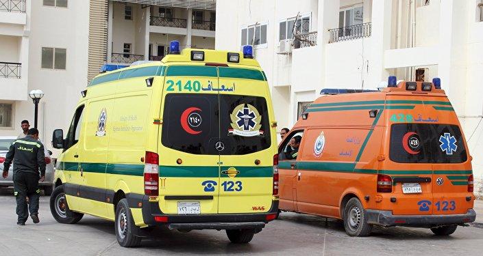 Ambulancia en Egipto (archivo)