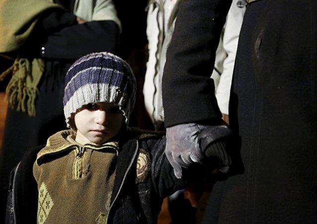 Un niño de la ciudad sitiada Madaya