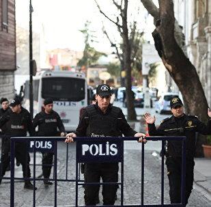 Area de explosión en Estambul