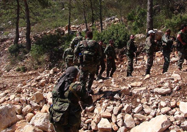 Ejército sirio en Latakia