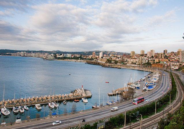Un balneareo en la región de Valparaíso, en Chile (archivo)
