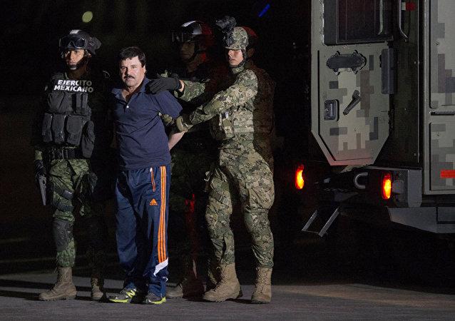 Joaquín El Chapo Guzmán, jefe narcotraficante de México (archivo)
