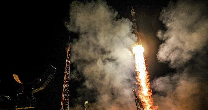 Cohete ruso Soyuz TMA-14M
