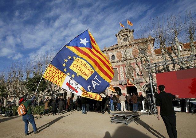 El partidario de la independencia de Cataluña (archivo)