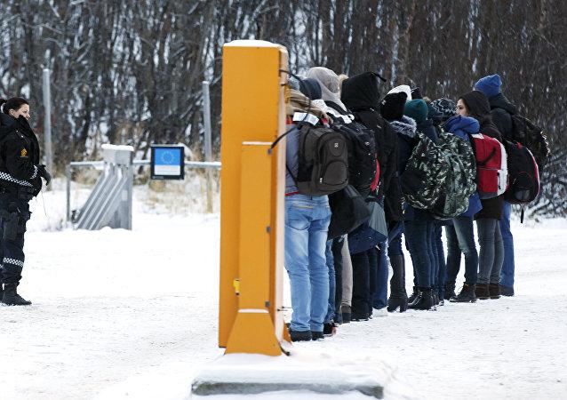 Migrantes en la frontera noruega