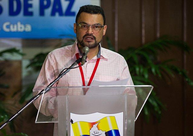 Sergio Marín, delegado de paz de las FARC-EP