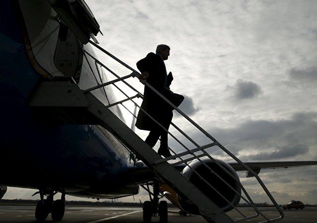 Secretario de Estado de EEUU, John Kerry llega a Vienna para la reunión sobre levantamiento de sanciones a Irán