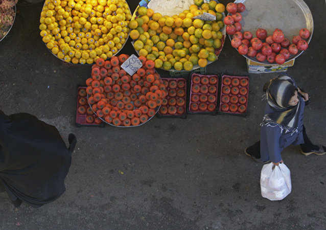 Mercado en Teherán, Irán