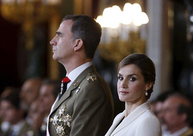 Los reyes españoles Felipe VI y Letizia