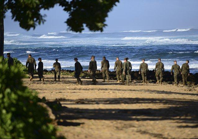 Marines estadounidenses en Hawái