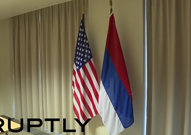 EEUU pone la bandera rusa al revés