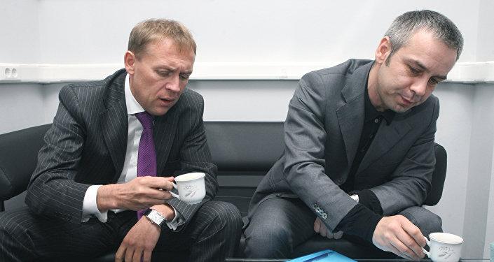 Andréi Lugovói y Dmitri Kovtún, empresarios rusos
