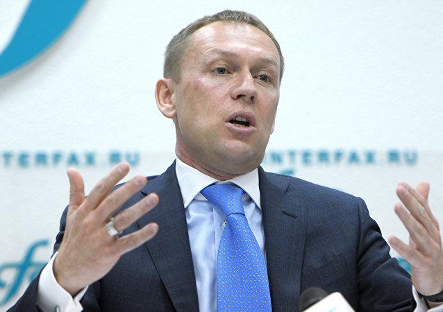 Andréi Lugovói durante una rueda de prensa sobre el caso Litvinenko