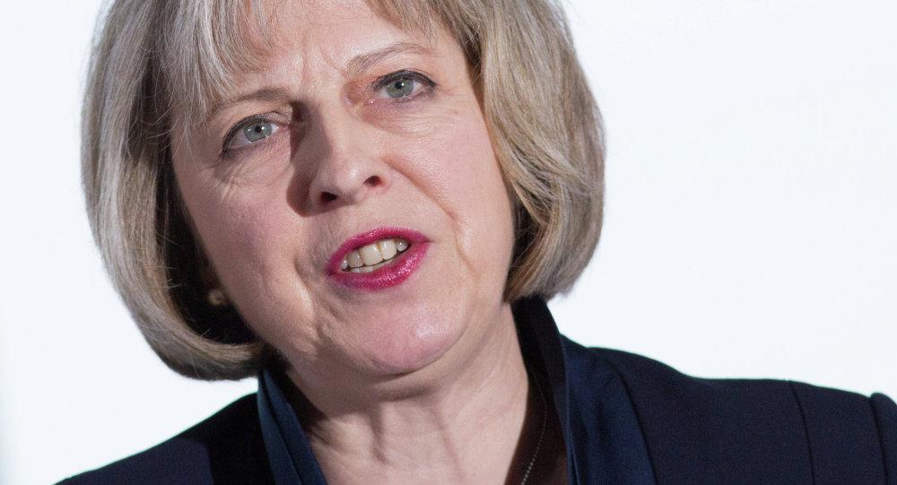 Theresa May, ministra del Interior de Reino Unido