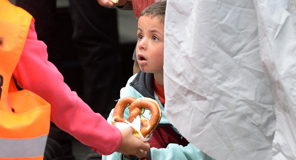 Un niño refugiado