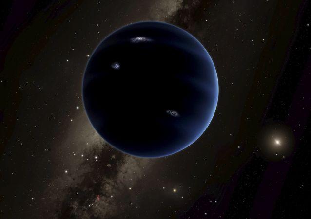 Иллюстрация предположительно новой планеты Солнечной системы Планеты 9