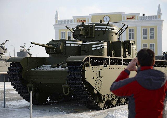 Leyenda recuperada: T-35, un tanque soviético sin análogos.