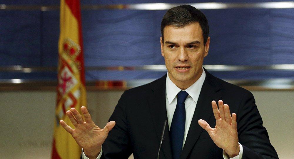 Pedro Sánchez, líder de los socialistas del PSOE