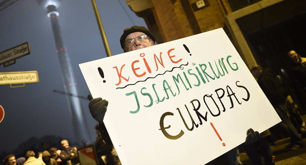 Acción de protesta contra la islamización (Archivo)