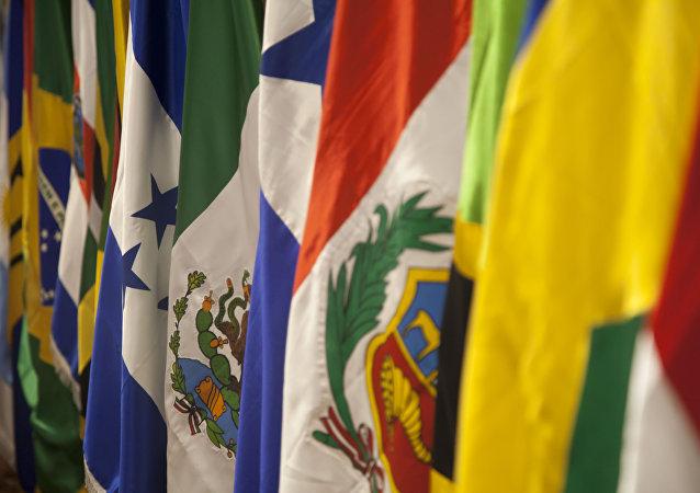 Banderas de países de CELAC