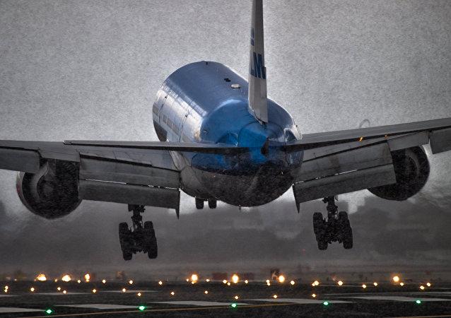 Aeropuerto durante una tormenta de nieve (Archivo)