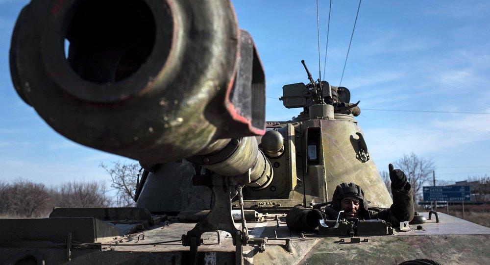 Artillería ucraniana