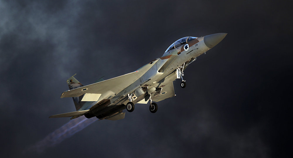 Avión F-15 de las Fuerzas Aéreas de Israel