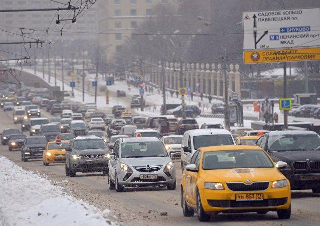 Circulación de coches en Moscú