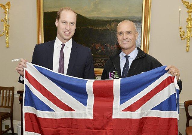 Príncipe Guillermo y explorador británico, Henry Worsley